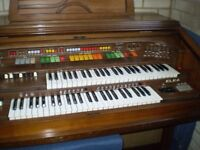 Elka x707 Double Keyboard Organ plus stool