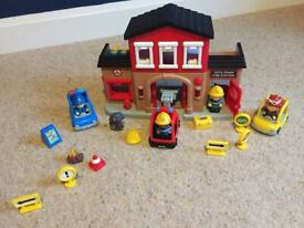 My Town Tots Fire Station, Police Car & extras