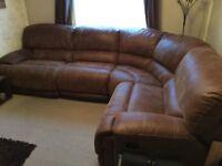 Reclining corner sofa for sale