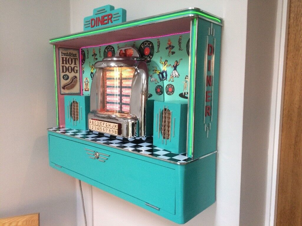 Jukebox Original Seeburg 3w1 Wall Box In Bespoke Diner