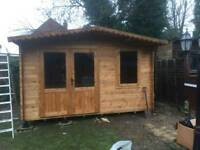 Garden offices, lodges and cabins installation services