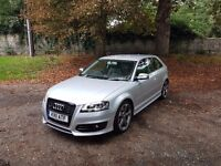 2011 Audi S3(a3) Black edition, low mileage, FASH, mot, NAV+leather.