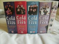 """ALL 4 SERIES OF """"COLD FEET """" INCLUDING THE PILOT EPISODE ON VHS TAPES"""