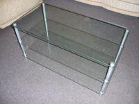 TV Stand - Glass Shelves