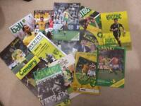 LARGE BUNDLE OF NORWICH CITY FC FOOTBALL PROGRAMMES