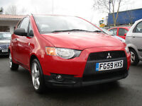 2009 misubishi colt cz1 3 door 12 months mot looks and drives excellent Remote locking, , Alloy