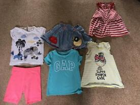 Bundle of girls clothes age 4 to 5 skirt shorts tops