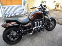 for sale triumph rocket 3 very good cond rides a1, 9mths mot.