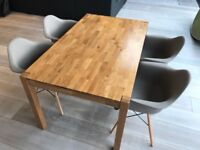 MUST GO! Solid Wood Dining Table & Designer Chairs - PERFECT CONDITION