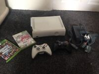 Xbox 360 2 pads 3 games all wires £40