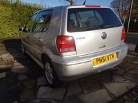 VW POLO - Automatc - Silver Colour - 78500 miles - 2001 Registration