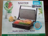 SALTER HEALTH GRILL & PANINI MAKER