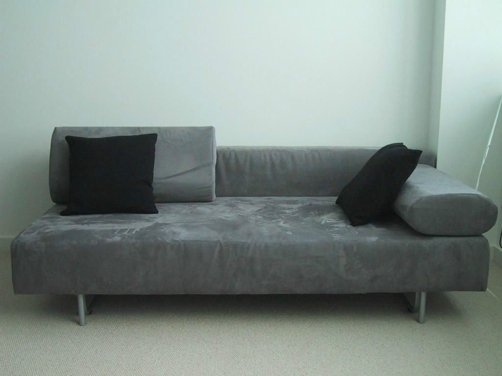 Muji 2 or 3 seater sofa bed double sofabed soft grey for Sofa bed very