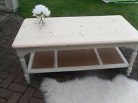 ** STRIKING LAURA ASHLEY 'CLIFTON' COFFEE TABLE - BEAUTIFULLY RESTORED IN SHABBY CHIC STYLE **