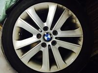 "BMW 1 SERIES 17"" x 3 ALLOY WHEELS STYLE 141 COMPLETE WITH CENTRE CAP"