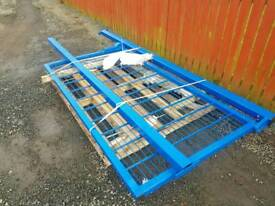 Heavy duty mesh gate and posts sizes in pictures farm industrial unit building site tractor etc