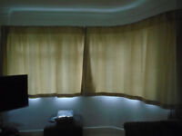 2 X pairs of matching, lined curtains