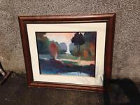 Large print in frame