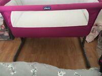 Pink chicco next 2 me crib