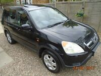 HONDA CRV, 2003 5DOOR 5 SPEED METALLIC BLACK.