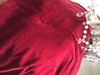 Red Velvet Curtains floor length 9' width of each curtain 8'
