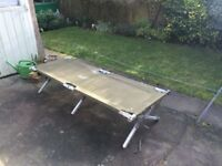 LARGE FULL SIZE X MILITRY CAMP BED LIGHT WEIGHT FOLDS AWAY £49