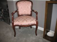 Occasional chair for use in lounge or bedroom.