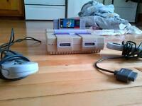 super nes + 2 controller + super mario world