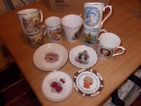 Job Lot 7 Royal Commemorative Mugs, 4 Commemorative plates