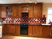 Cherrywood fitted kitchen in v good condition including (optional) beautiful black granite surface