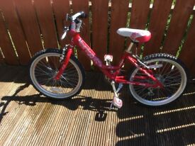 "Girls Bike, 20"" Wheels, Bentini Paradise Pink, Excellent Condition"