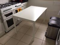 White MELLTORP Dining Table from IKEA