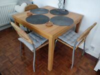Extendable Dining table and chairs (or sold seperately)