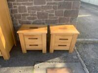 Gillies pair of solid oak bedside chests * free furniture delivery *