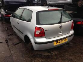 03 VOLKSWAGEN POLO E 3 DR HATCH SILVER 1.2 PETROL ENG CODE - AWY BREAKING SPARES PARTS