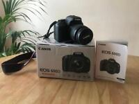 Canon EOS 600D with accessories