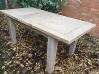 Solid Oak Extending Dining Table, Whitewash Finish, New / Unused