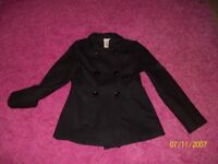 Girl's black coat