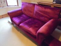 Laura Ashley Cherry Red 1930's Style Sofa.