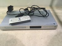 Silver DVD player + remote