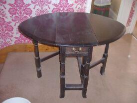 An Old Oak Gate leg Table