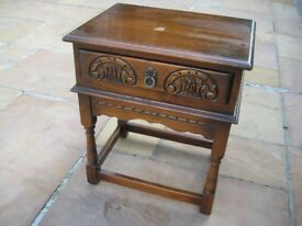 Quality Vintage Old Charm Furniture Solid Oak Hall Table with Drawer