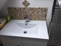 Brand new vanity and basin set