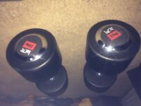 25kg rubber dumbell
