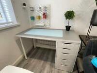 IKEA 120cm x 60cm computer desk table with drawer unit