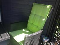 Lime green chair cushions garden pads cushions seat covers