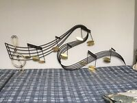 Musical Notes Metal Wall Art Sculpture – Large