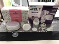 Avent Breast Pump plus 80 breast pads