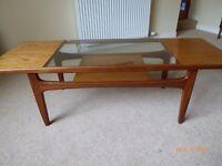 Coffee table, solid teak