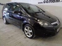 2008 Vauxhall Zafira 1.8i SRi Black 97k FSH Alloys CD Air Con 7 Seats 5 doors HPi Clear £2395